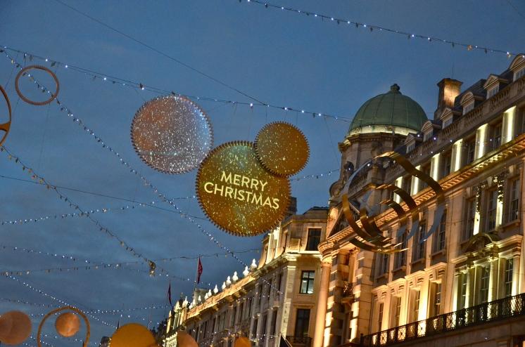 Décoration de Noël sur Regent's Street © Nadine Wick