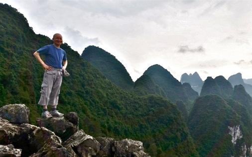 Kim au sommet de Laozhai Hill © Nadine Wick
