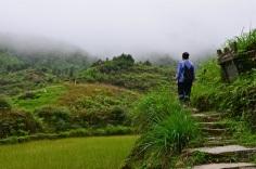 Notre guide à travers les rizières de Longji. © Nadine Wick